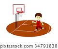 滴下的篮球男孩 34791838