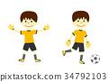 踢足球的男孩 34792103