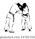 柔道 格斗运动 武术 34792156