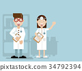 doctor flat design cartoon character 34792394