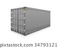 Cargo container vector 34793121