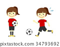 足球 英式足球 女孩 34793692