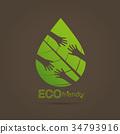 Eco friendly hands hug concept green tree. 34793916