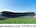 Koshien stadium in the summer 34794139
