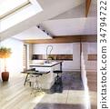 kitchen, modern, interior 34794722