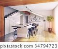 kitchen, modern, interior 34794723