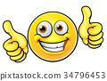 Happy Thumbs Up Emoji Emoticon 34796453