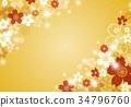 日式 花朵 花卉 34796760