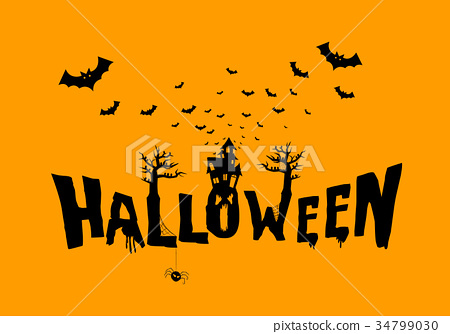 Happy Halloween Typography, Scary, Horror,Vector  34799030