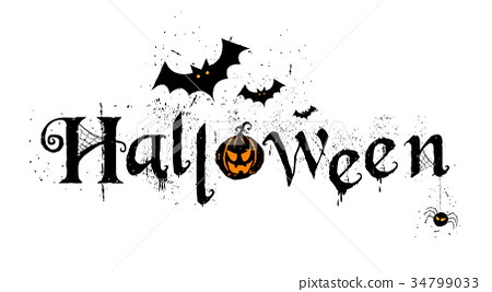 Happy Halloween Typography, Scary, Horror,Vector 34799033