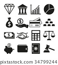 vector of Financial investment icon set 34799244
