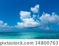 藍天 雲彩 雲 34800763