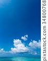 藍天 雲彩 雲 34800768