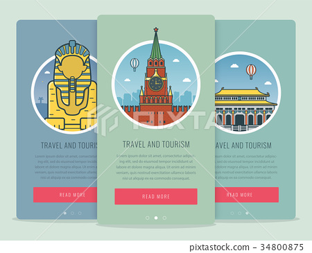 Travel composition with famous world landmarks 34800875