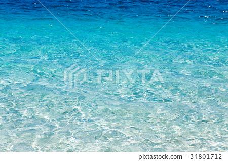 水面清澈透明 34801712