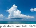 하늘 푸른 하늘 구름 34802029