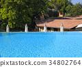 swimming pool on summer resort, Tuscany, Italy 34802764