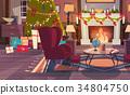 vector, armchair, pine 34804750