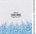 Christmas snowy forest 34804846