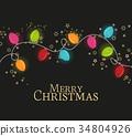 Christmas colorful lights 34804926