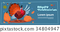 Happy Thanksgiving Day Autumn Traditional Harvest 34804947