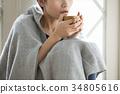 여성, 여자, 음료 34805616