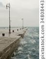 Bora, a stormy wind in Trieste, Italy 34808443