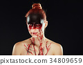 Mystic hero, bloody girl. Fantasy makeup 34809659
