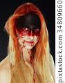 Mystic hero, bloody girl. Fantasy makeup 34809660