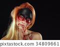 Mystic hero, bloody girl. Fantasy makeup 34809661