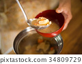 ครัว,ซุปหมู,คน 34809729