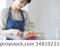 여성 라이프 스타일 요리 34810233