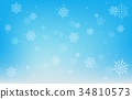 background snowflake blue 34810573