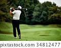 高尔夫 高尔夫球手 高尔夫球场 34812477