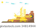 excavator, bucket, mining 34814944