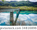 Reflection lake with pine forest in Tohoku, Japan 34816896
