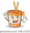 Finger cup noodles character cartoon 34817256