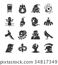 Halloween icon set.  34817349