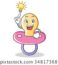 Have an idea baby pacifier character cartoon 34817368
