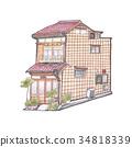 手繪 色鉛筆 住宅 34818339