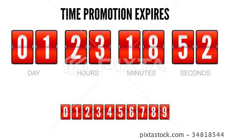 Promotions expires, analog flip clock timer 34818544