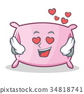 In love pillow character cartoon style 34818741