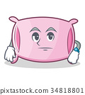 Waiting pillow character cartoon style 34818801