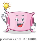 Have an idea pillow character cartoon style 34818804