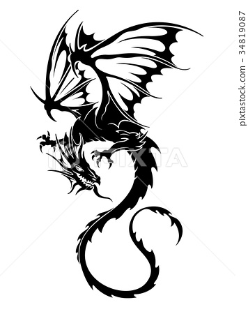 dragon dragons flying stock illustration 34819087 pixta