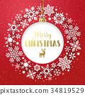 christmas, wreath, snowflakes 34819529