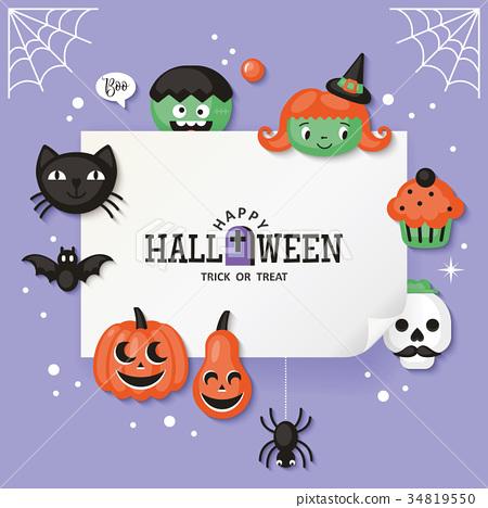 Halloween holiday banner design 34819550