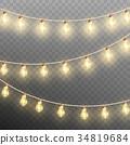 christmas, garland, isolated 34819684