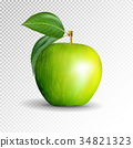 Perfect Fresh Green Apple Isolated on transparent 34821323