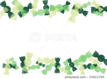 수채화 프레임 사탕 녹색 34822760